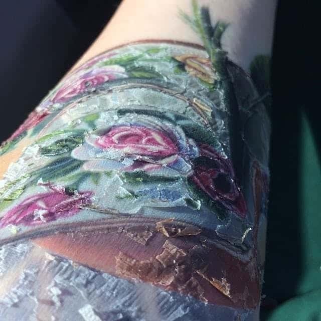 tatouage qui pelle