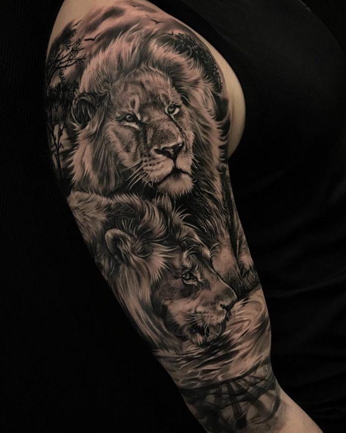 31278561 362829644206465 7886655227951054848 n - 53 Tatouages Lion pour Femme