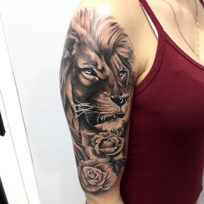 36967446 1964542827171092 8403226157415137280 n - 53 Tatouages Lion pour Femme