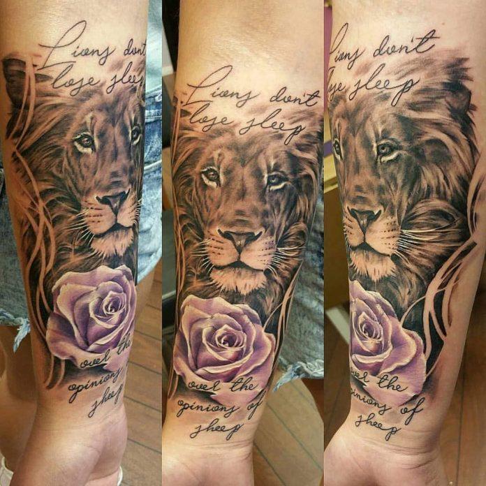 37270096 592987904435757 229689636899782656 n - 53 Tatouages Lion pour Femme