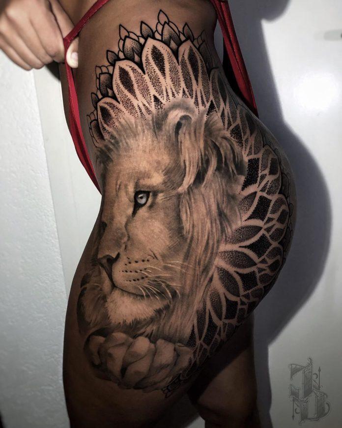 40760734 321182201764979 308173853443320372 n - 53 Tatouages Lion pour Femme