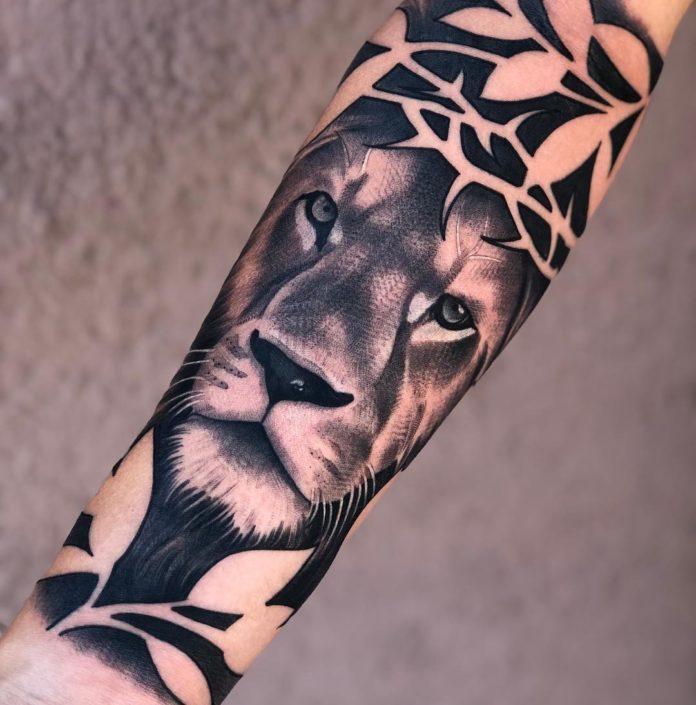 52666894 322560755279903 2196019882239534606 n - 53 Tatouages Lion pour Femme