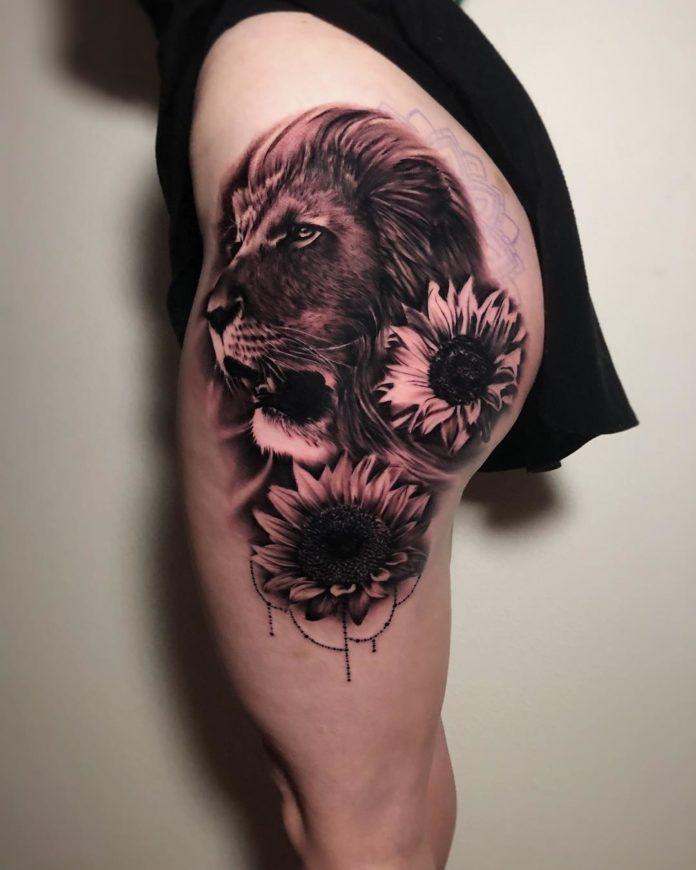 53484938 324209215109235 6758946333920270689 n - 53 Tatouages Lion pour Femme