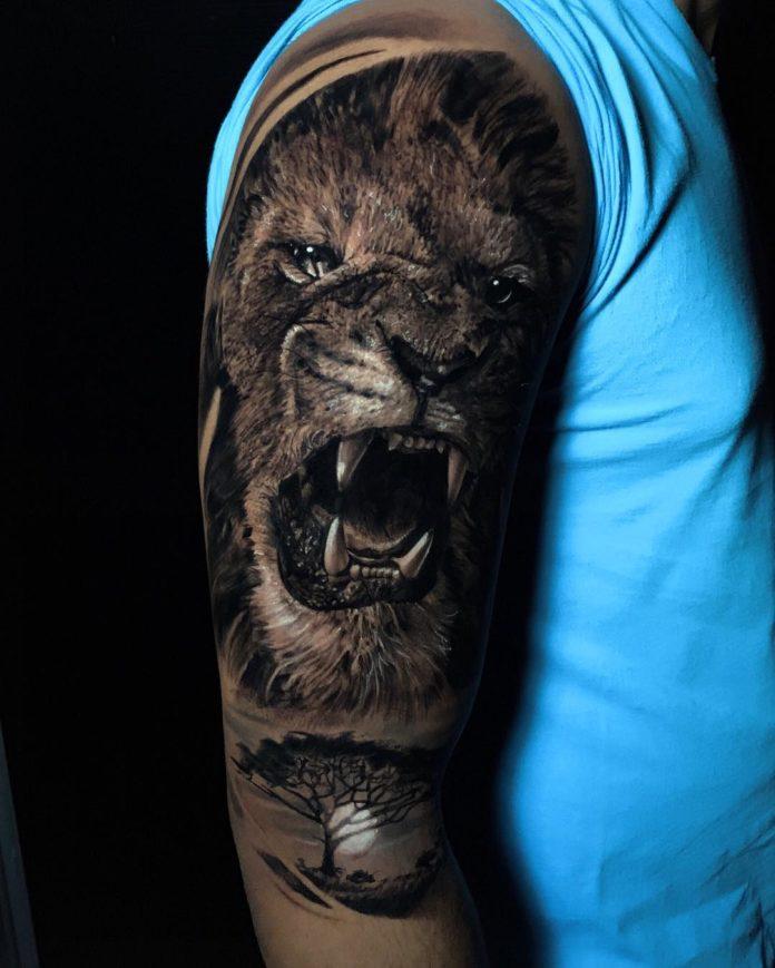 54731601 282332646028578 6376856738784070827 n - Top 100 des Tatouages Lion pour Homme
