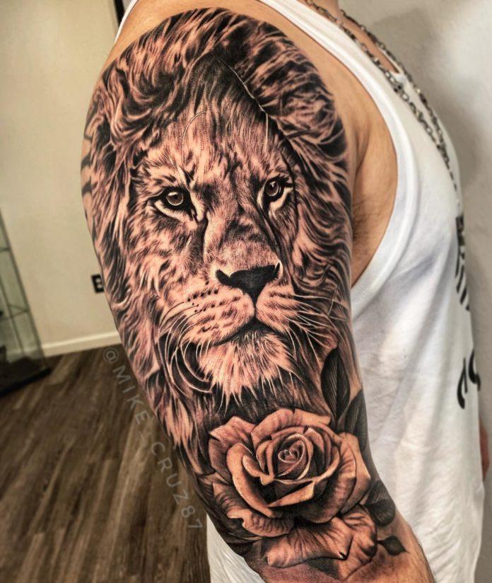 58409662 454262095343135 1593916487179235924 n - Top 100 des Tatouages Lion pour Homme