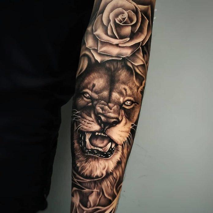 58410305 298952877667128 8492854618720705542 n - 53 Tatouages Lion pour Femme