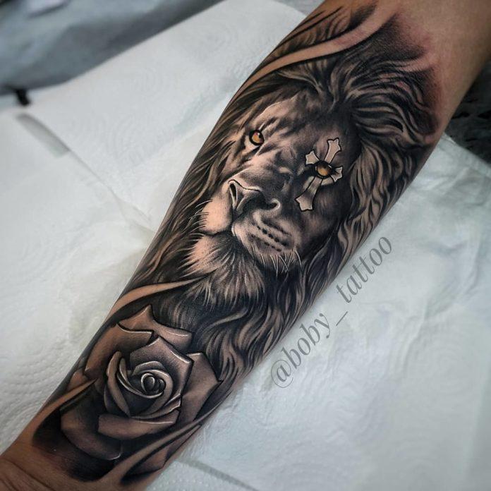59739315 1214028132090270 3754061261881442797 n - Top 100 des Tatouages Lion pour Homme