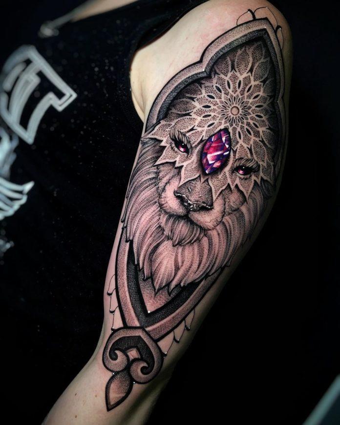 60583444 658225554624646 3547207916382440030 n - 53 Tatouages Lion pour Femme