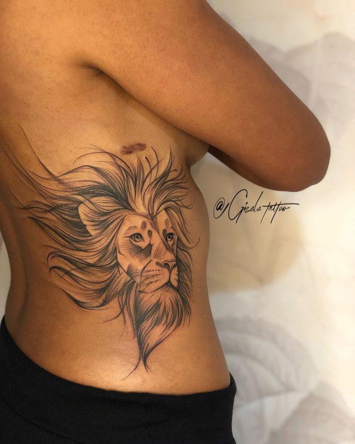 61021524 867157133617060 4995286221310646821 n - 53 Tatouages Lion pour Femme