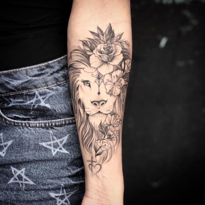 61132058 150325302686480 8794804625307709805 n1 - 53 Tatouages Lion pour Femme