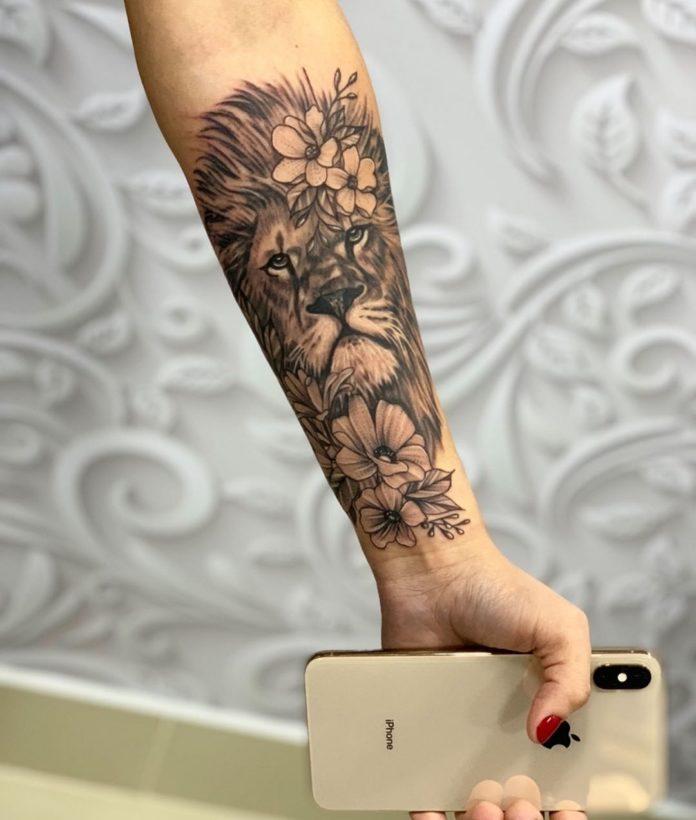 61764307 507427546662809 4439573955900180693 n - 53 Tatouages Lion pour Femme