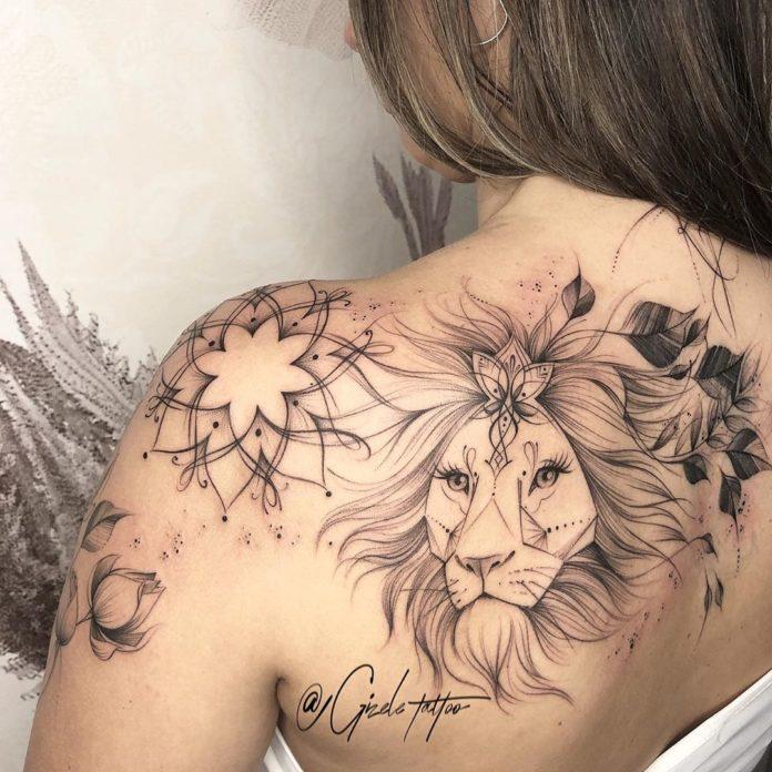 62034146 118854925769517 6390232710908275601 n - 53 Tatouages Lion pour Femme