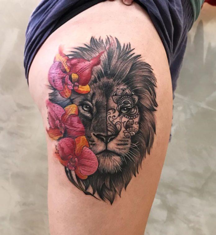 64574864 444062796413445 3350437459412332095 n1 - 53 Tatouages Lion pour Femme