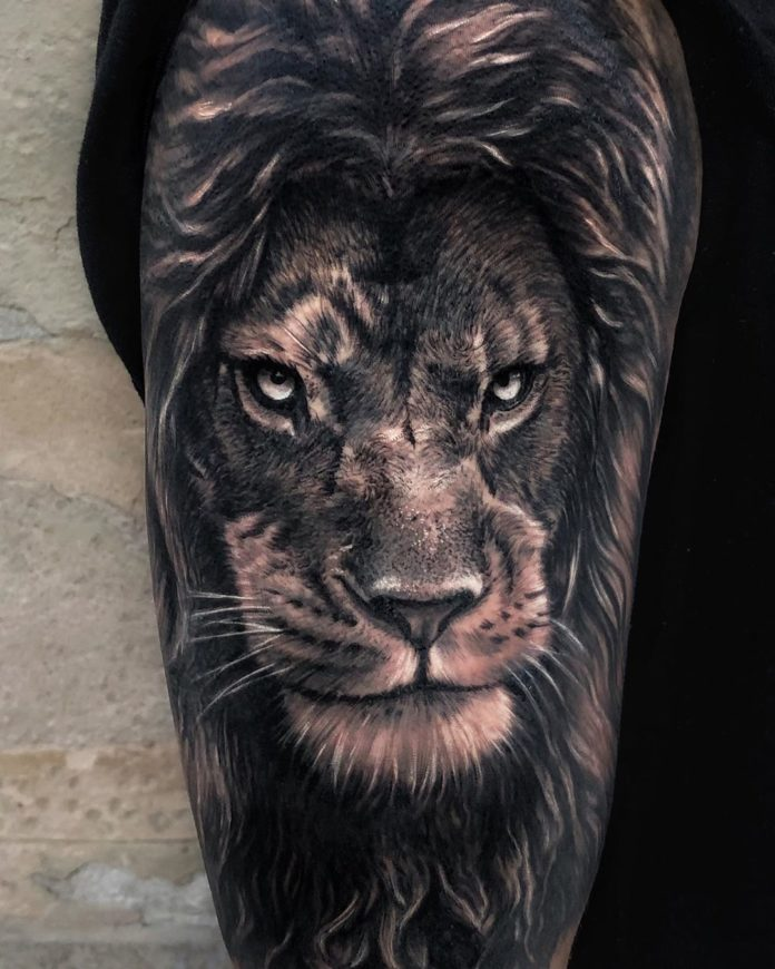 Tatouage Lion sur le bras