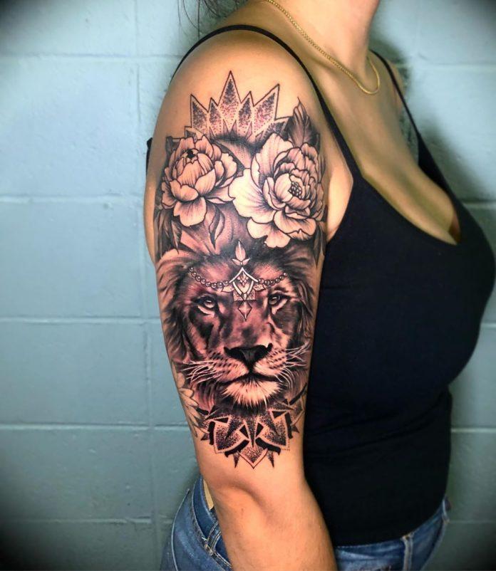 64757321 142993250213023 7104000913424258758 n - 53 Tatouages Lion pour Femme
