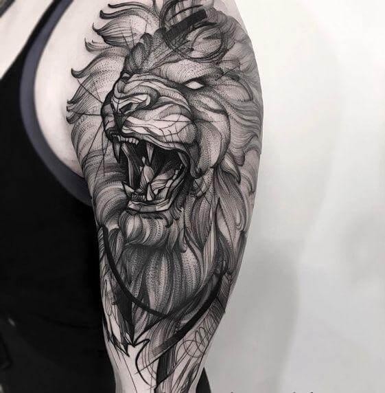 lion tattoos 121 - 53 Tatouages Lion pour Femme