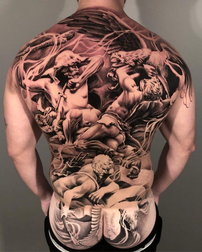 100 Incroyables Tatouages Dans Le Dos Pour Homme Tatouez