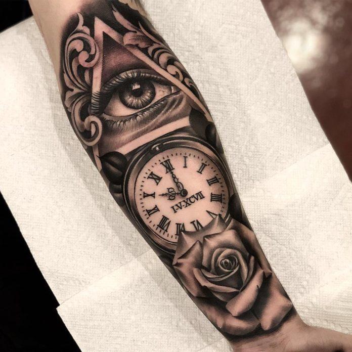46584697 151036015863699 3851191321546978366 n 1 - 100 Tatouages d'Horloge pour Homme