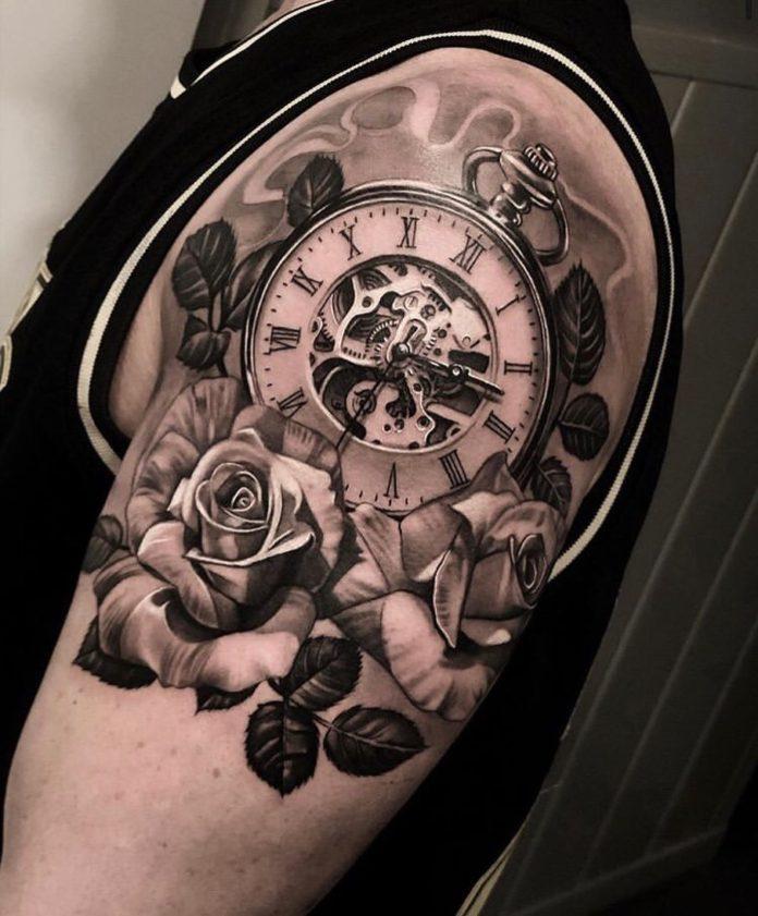 B29Rtayl9FV - 100 Tatouages d'Horloge pour Homme