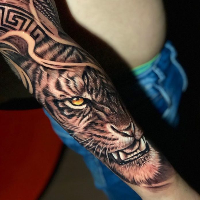 10 - Top 100 Tatouages Tigre pour Homme