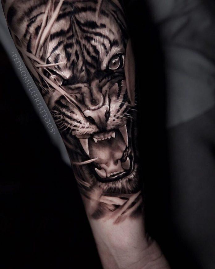 100 1 - Top 100 Tatouages Tigre pour Homme