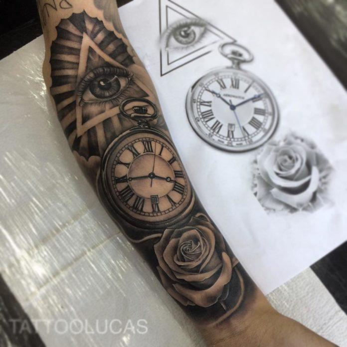 100 - 100 Tatouages d'Horloge pour Homme