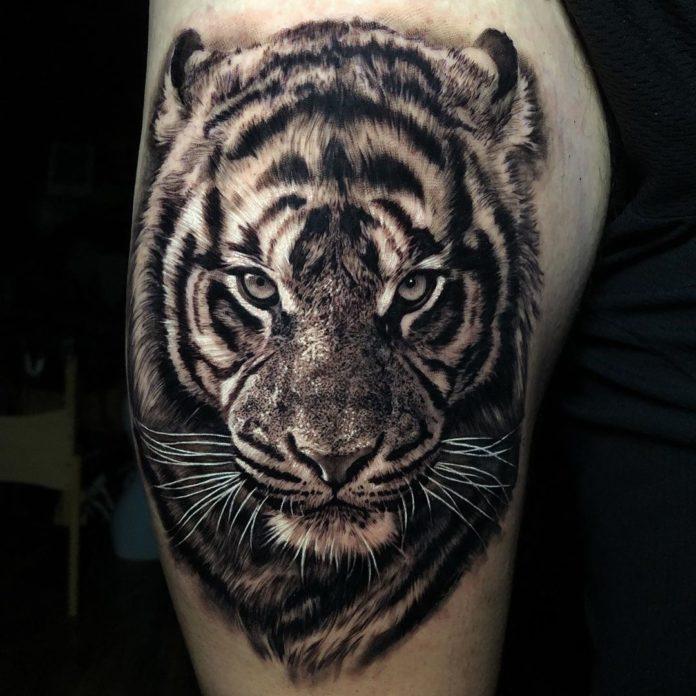 11 - Top 100 Tatouages Tigre pour Homme