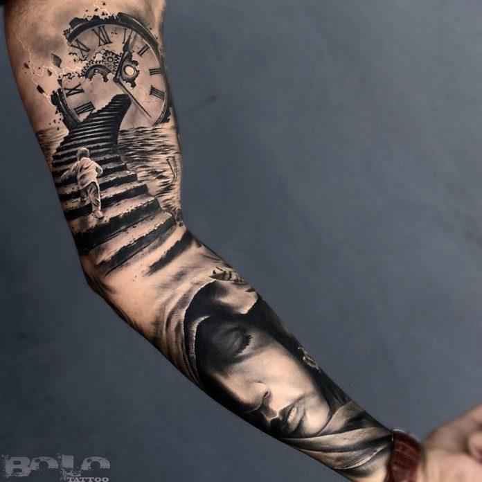 16 6 - 150 Tatouages Bras Complet pour Homme