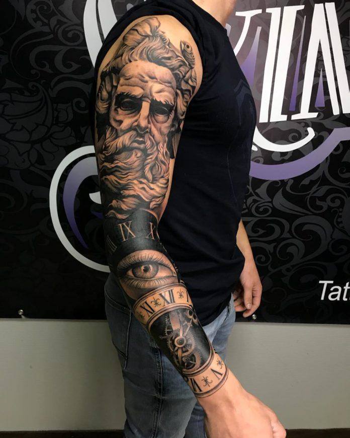 28 8 - 150 Tatouages Bras Complet pour Homme