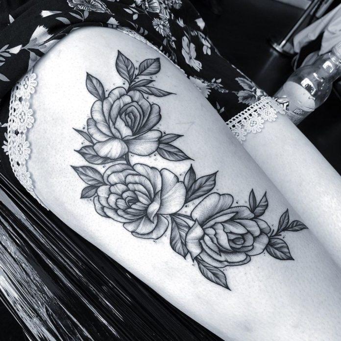 30 8 - Top 100 Tatouages Cuisse pour Femme