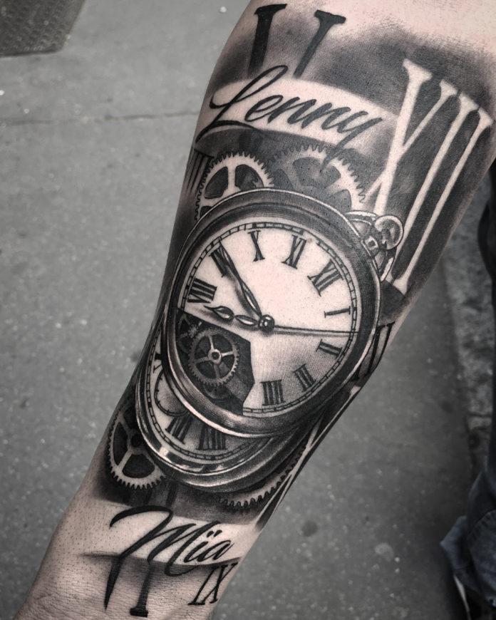35575926 1765798583455897 3873378893977092096 n - 100 Tatouages d'Horloge pour Homme