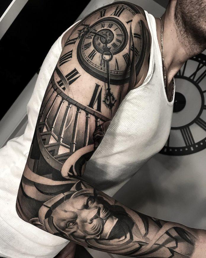 36 10 - 150 Tatouages Bras Complet pour Homme