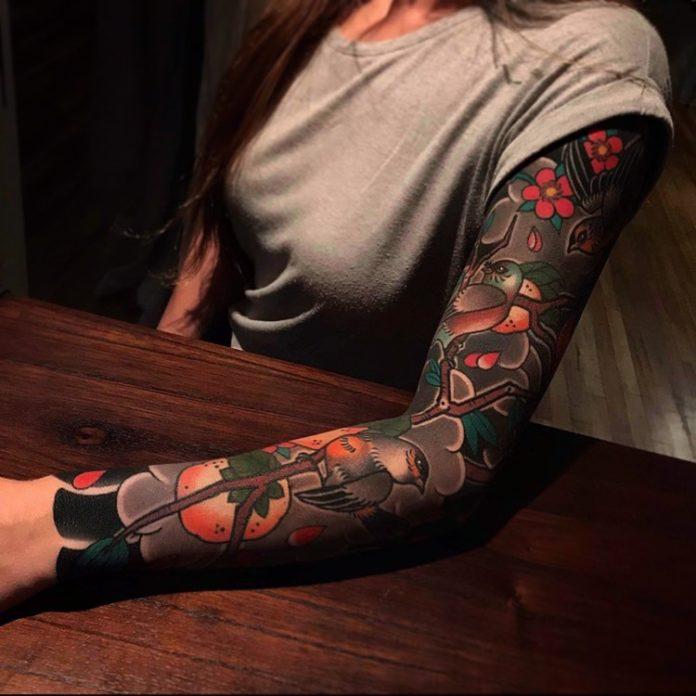 37 12 - Top 100 Tatouages Bras Complet pour Femme