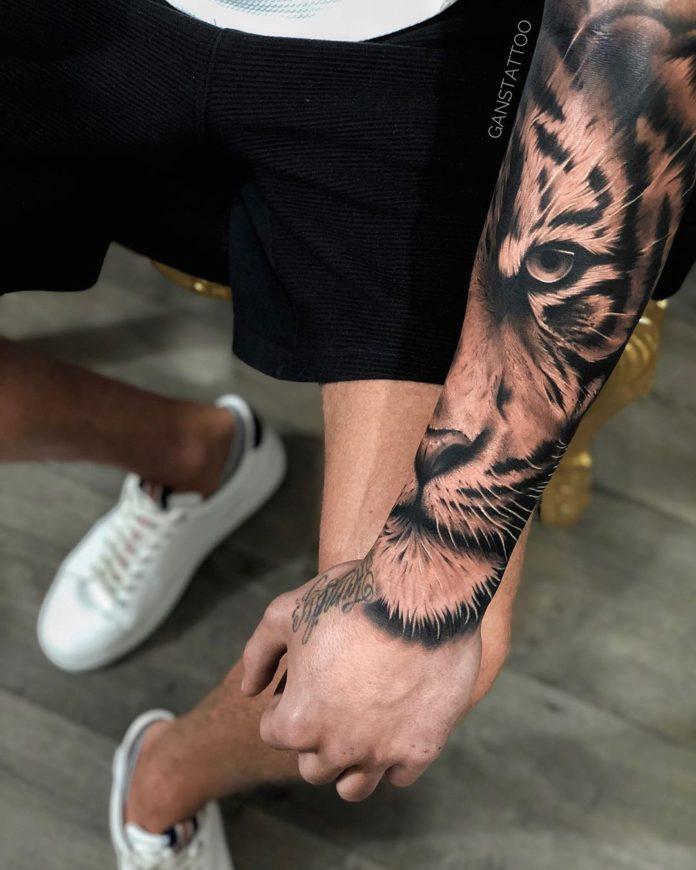 37 - Top 100 Tatouages Tigre pour Homme