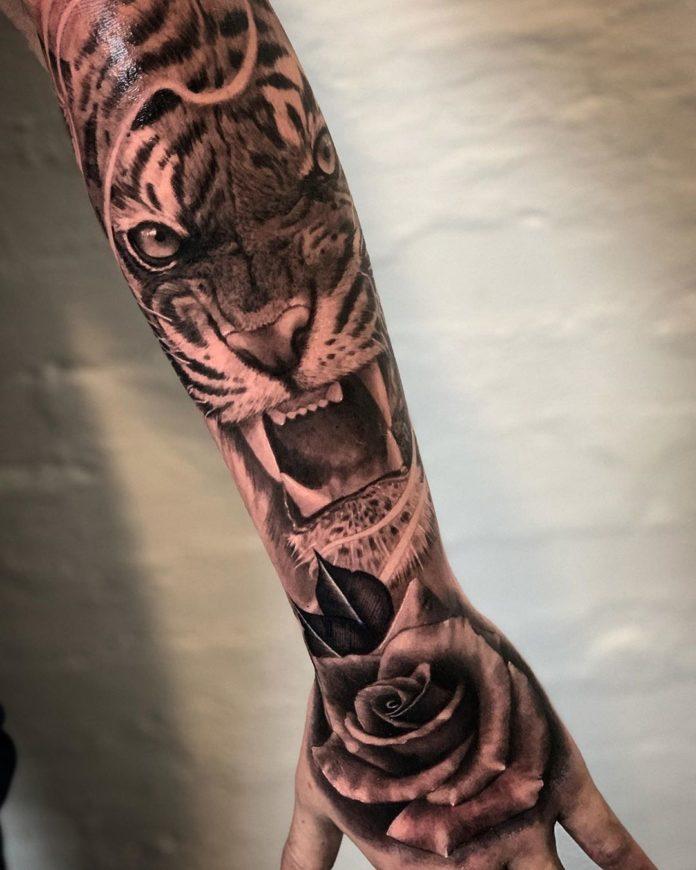 38 - Top 100 Tatouages Tigre pour Homme