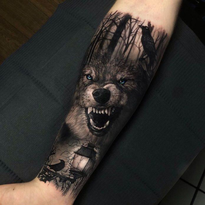 4 1 - Top 100 Tatouages Loup pour Homme