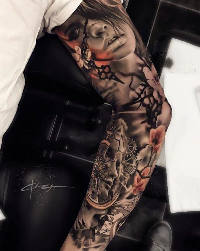4 6 e1573431852820 - 150 Tatouages Bras Complet pour Homme