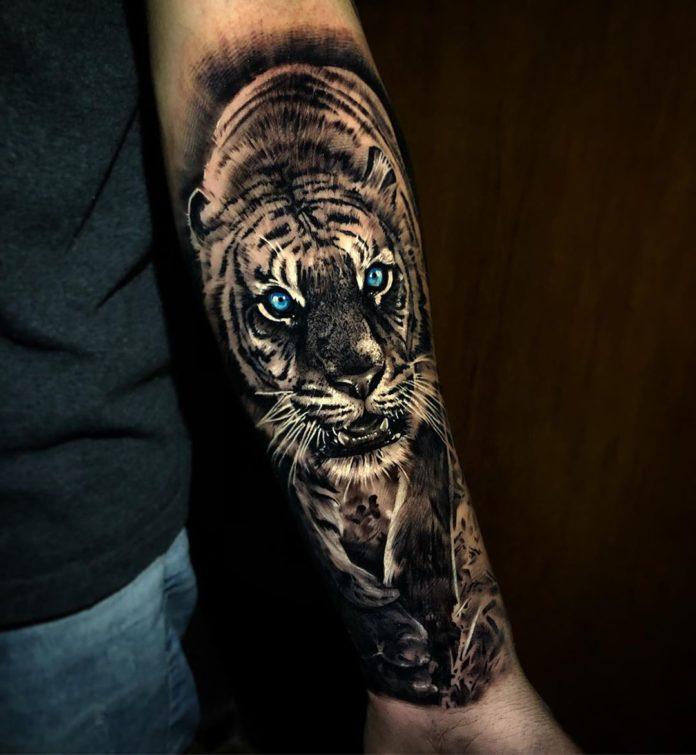 40 - Top 100 Tatouages Tigre pour Homme