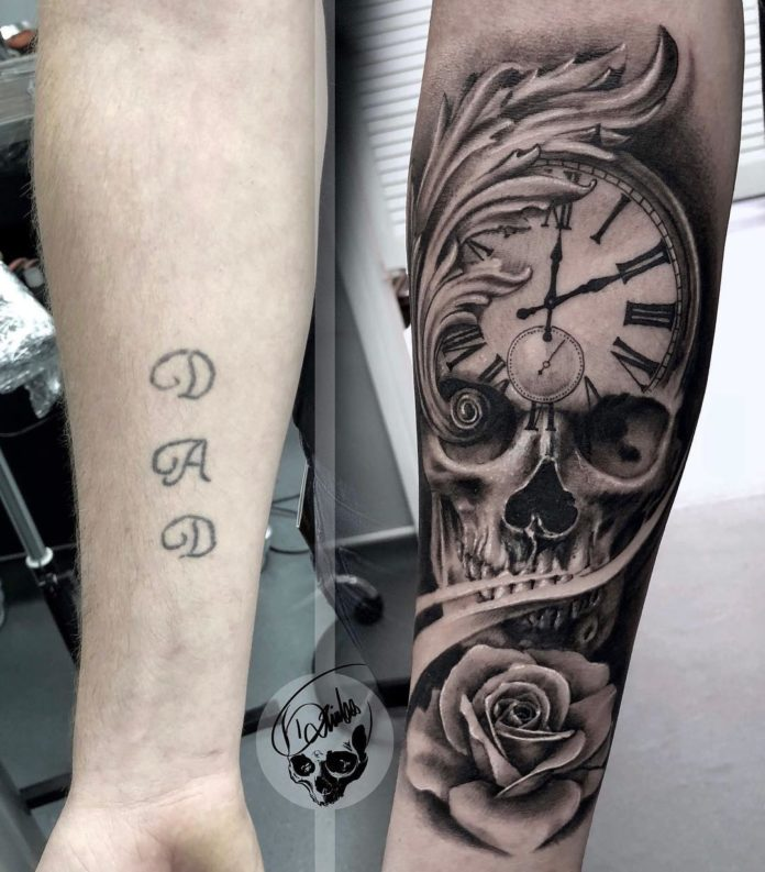 41787765 2069852959994557 7951696085115840042 n - 100 Tatouages d'Horloge pour Homme