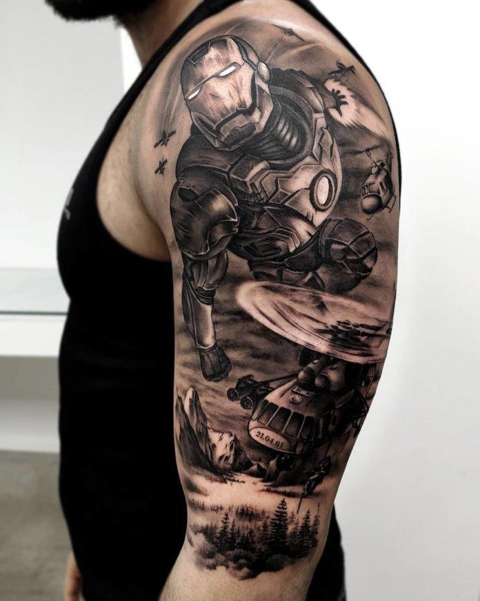 43 7 - 156 Incroyables Tatouages Épaule pour Homme