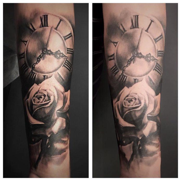 43575460 1776825489093752 3481215350640742373 n - 100 Tatouages d'Horloge pour Homme