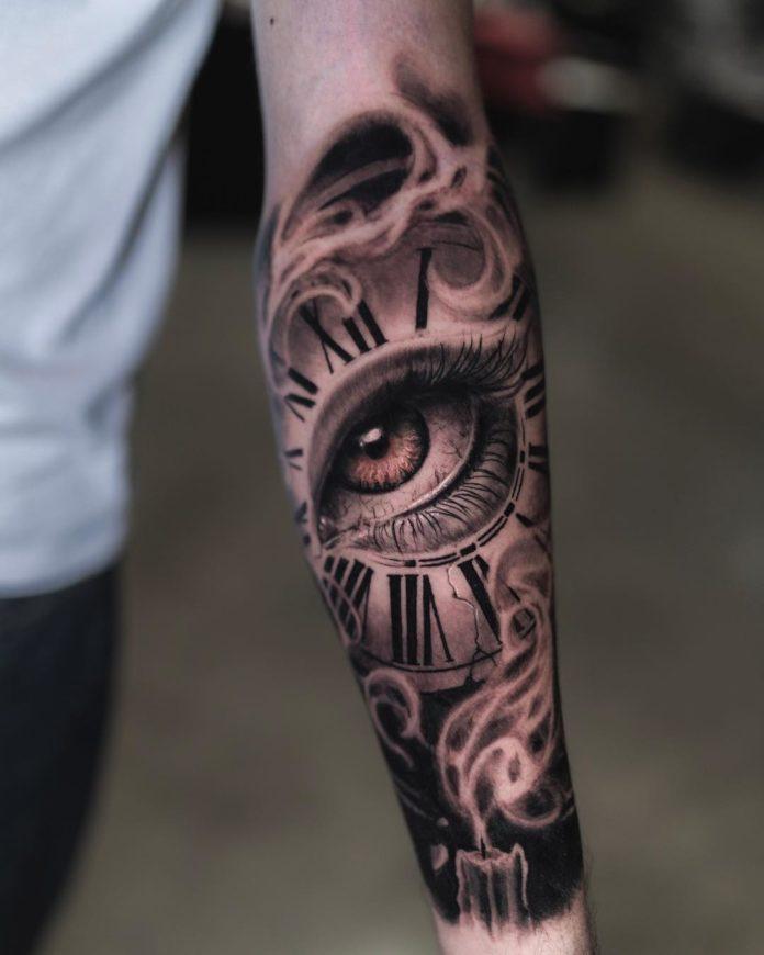 43778842 495228774321750 1619609245867912784 n - 100 Tatouages d'Horloge pour Homme