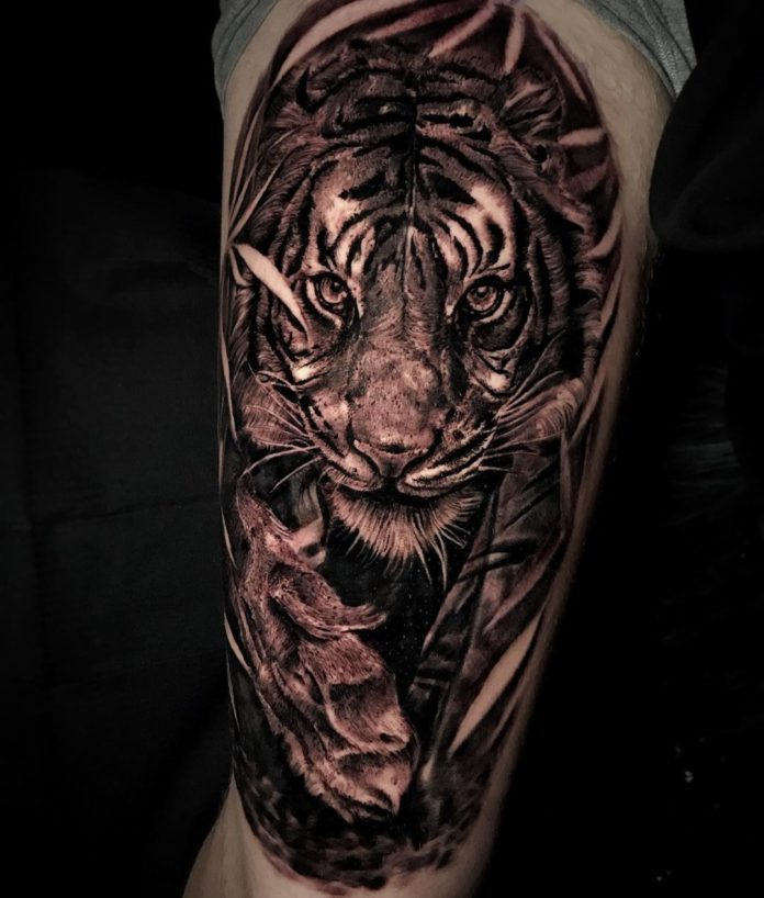 45 - Top 100 Tatouages Tigre pour Homme