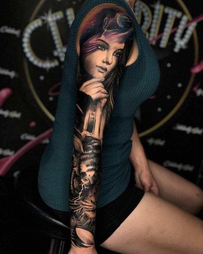 48 13 - Top 100 Tatouages Bras Complet pour Femme