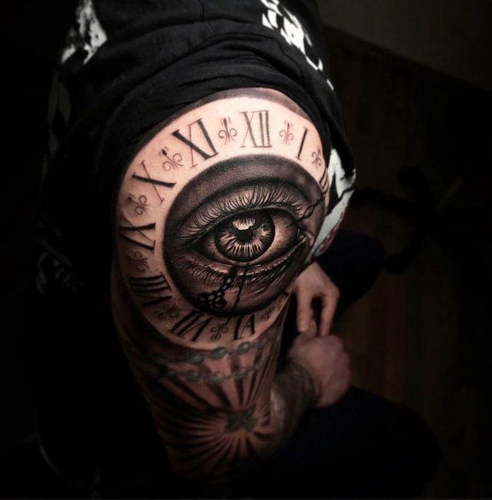 52151588 735173536899510 4853566595634382701 n - 100 Tatouages d'Horloge pour Homme