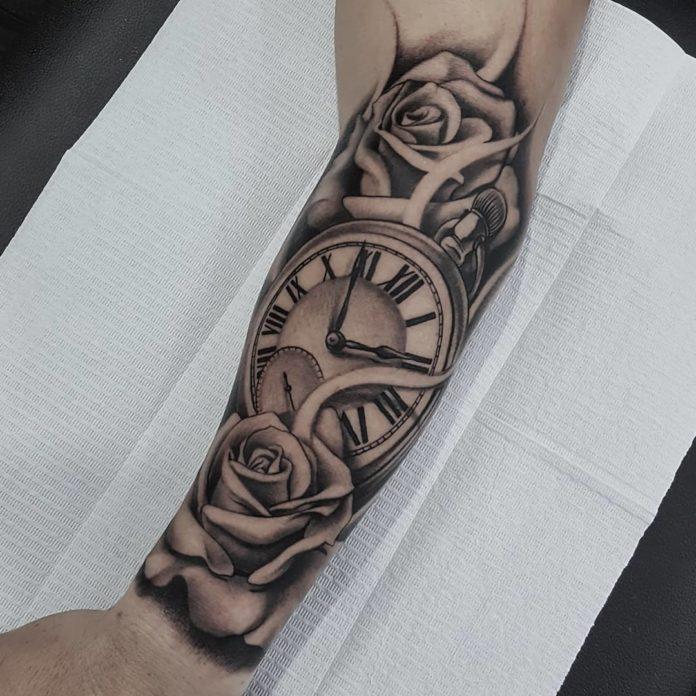 52400339 265697997662472 5974221400637336820 n - 100 Tatouages d'Horloge pour Homme