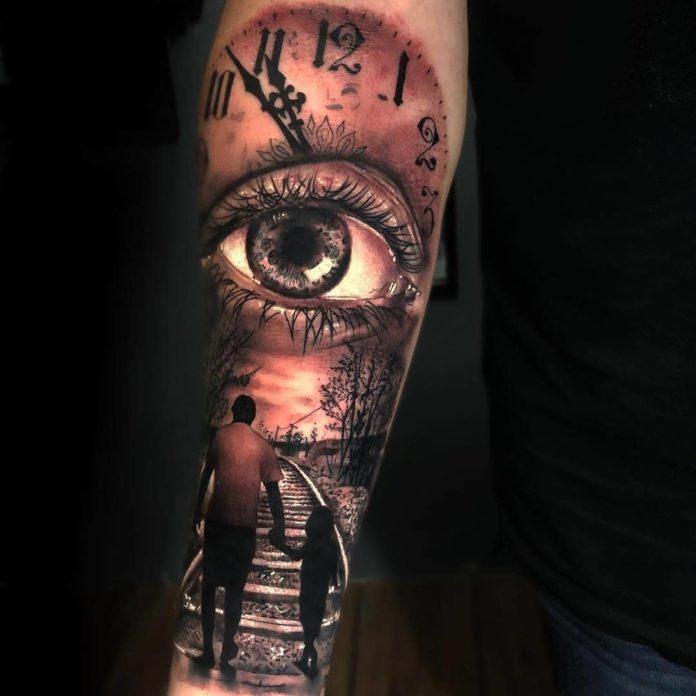 52582803 411476779441839 2252055655602461611 n - 100 Tatouages d'Horloge pour Homme