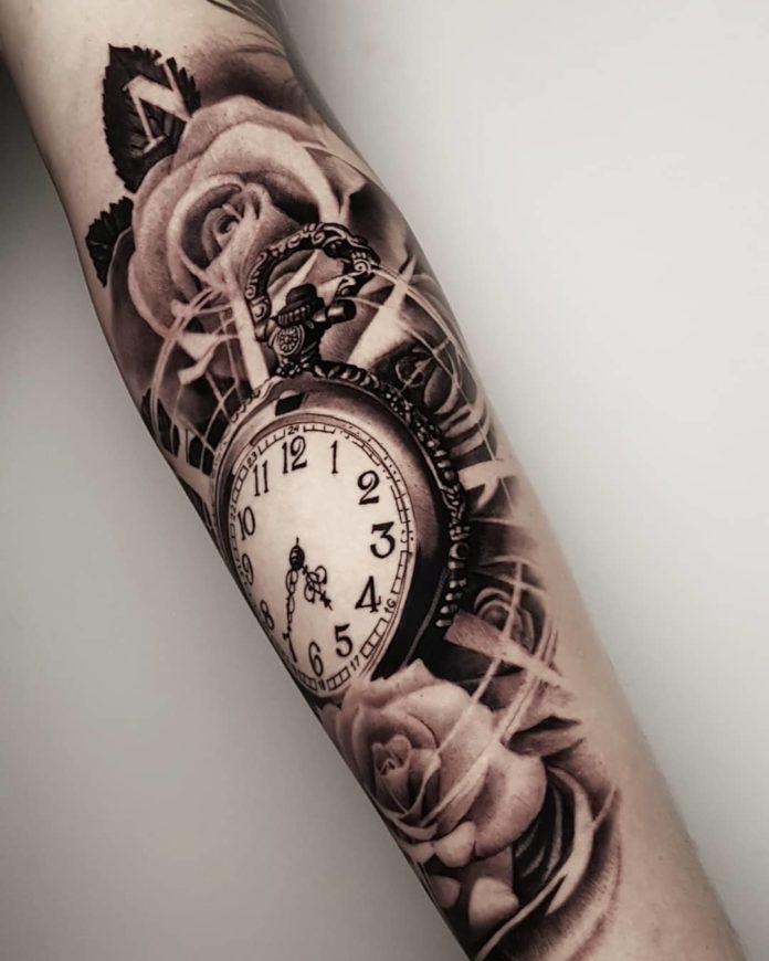 52651675 939110539627311 6805027825450591449 n - 100 Tatouages d'Horloge pour Homme