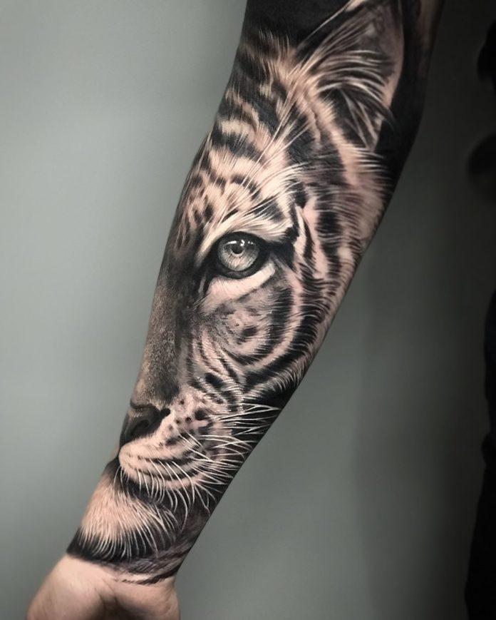 52903125 182539779387737 1473435787324437251 n - Top 100 Tatouages Tigre pour Homme
