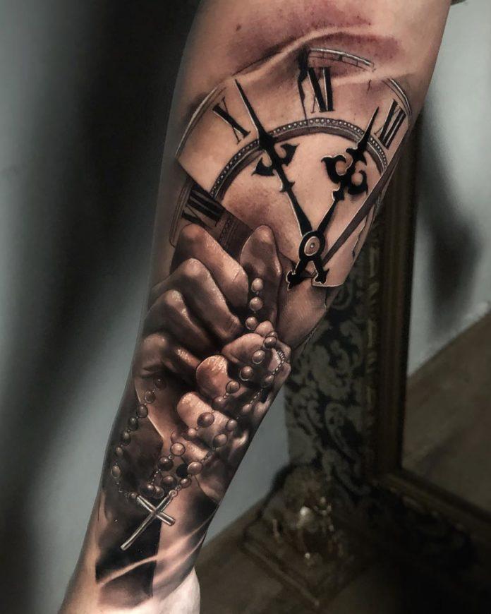 53614279 105201833936402 6773186803547258006 n - 100 Tatouages d'Horloge pour Homme